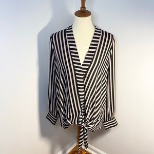 NWT Nordstrom Chelsea 28 Striped Wrap Blouse